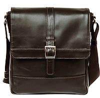 Кожаная мужская сумка – планшет Mk17 коричневая