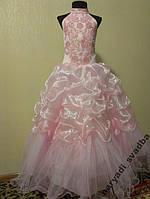 NEW!!! Розовое детское платье Swarovski на 7-10 лет