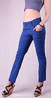 Капри женские с карманами под пояс, синий