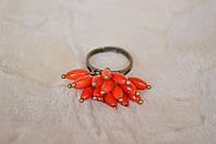 """Кольцо из кораллов """"Коралловый цветок"""", фото 1"""