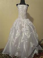 Шикарное белое детское платье на 8-10 лет
