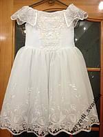 NEW!!! Нежное белое детское платье на 4-6 лет