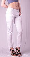 Капри женские с карманами под пояс, белый