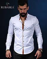 Мужская рубашка с длинным рукавом белая, фото 1