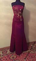 V.74 Шикарный узкий бордово-золотой комплект, корсет и юбка, размер 44