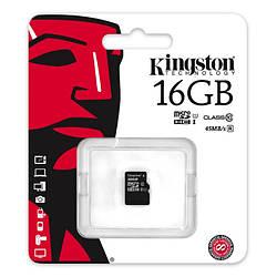 Карта памяти Kingston MicroSDHC 16GB Class 10