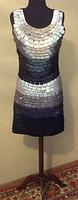 V.10 Универсальное стрейчевое платье, черно-бело-серое, размер до 46