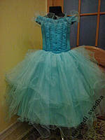 NEW!!! Пышное бирюзовое детское платье на 5-7 лет