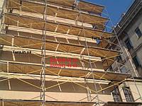 Фасадные леса рамного типа для строительства комбинатов