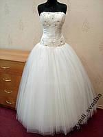 Новое свадебное платье цвета ivory с кристаллами Swarovski, размер 38-42