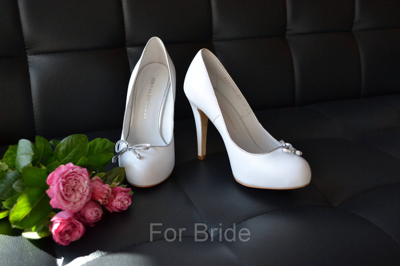 778507242 Свадебные туфли белые на платформе BALDOWSKI - For Bride в Киеве