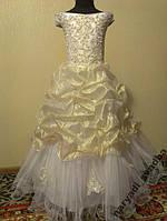 NEW! Шикарное бело-золотое детское платье на 7-12 лет