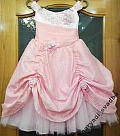 Королевское розовое детское платье на 5-7 лет