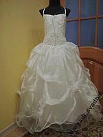 Нежное детское платье жемчужного цвета на 8-12 лет