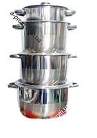 Набор кастрюль из нержавеющей стали (4шт.)