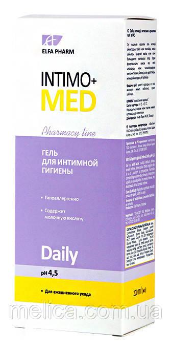 Гель для интимной гигиены Elfa Pharm  Intimo+med Daily рН 4,5 - 200 мл.
