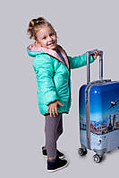 Теплая детская куртка двухсторонняя на рост 98-104см; 104-110см; 110-116см; 116-122 см. (2 цвета)
