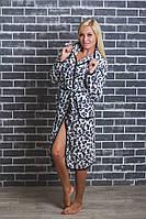 Халат махровый женский леопардовый, фото 1
