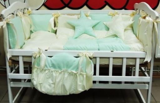 Комплект детского постельного белья в кроватку светло-салатовый Bonna Elite