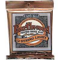 Струны Ernie Ball 2153 Earthwood Phosphor Bronze 12-String Light 9-46