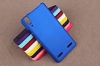 Матовый чехол для Lenovo A6000 K3 A6010 Синий Бампер Накладка