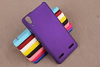 Матовый чехол для Lenovo A6000 K3 A6010 Фиолетовый Бампер Накладка