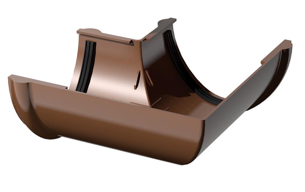 Угол внутренний для желоба 90 гр. медный De Mazzonetto Италия 153/100 мм