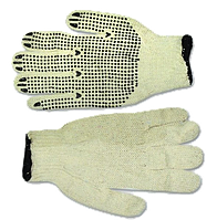 Перчатки вязанные с вкраплением серые, L TECHNICS