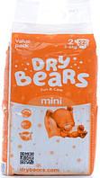 Dry Bears Fun&care Подгузники 2 mini (3-6кг),52 шт, фото 1