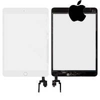 Сенсорный экран (touchscreen) для iPad mini 3 Retina, с кнопкой HOME, белый, оригинал