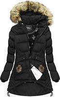 Зимний женский пуховик куртка  с капюшоном клёш