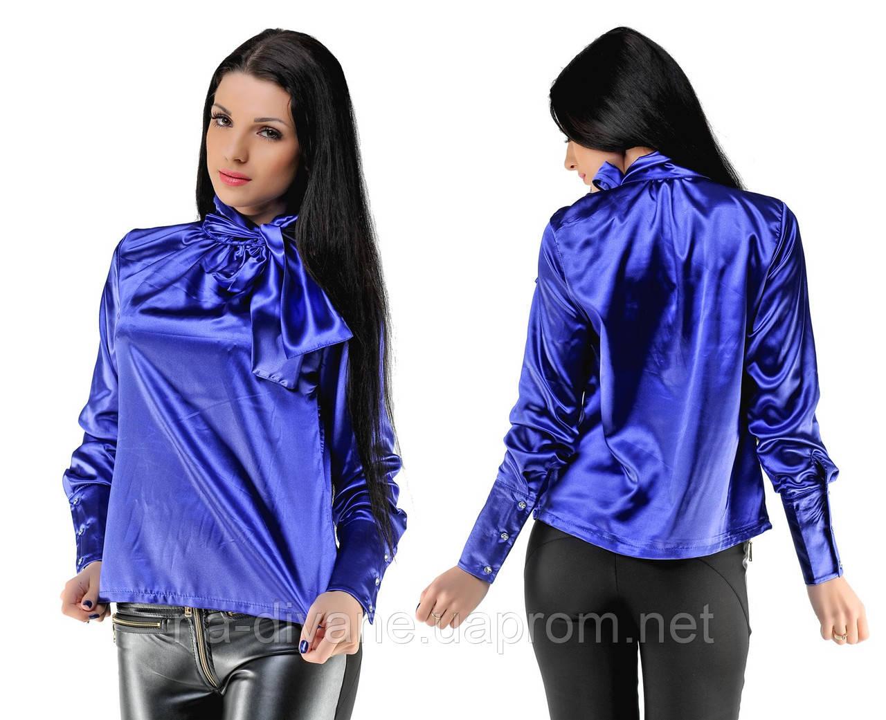 d58b69332c9 Атласная блузка 21-5149 - Женская
