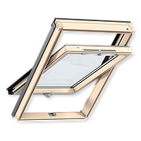 Мансардное окно Velux Optima линия стандарт 78*98 см, ручка снизу + оклад