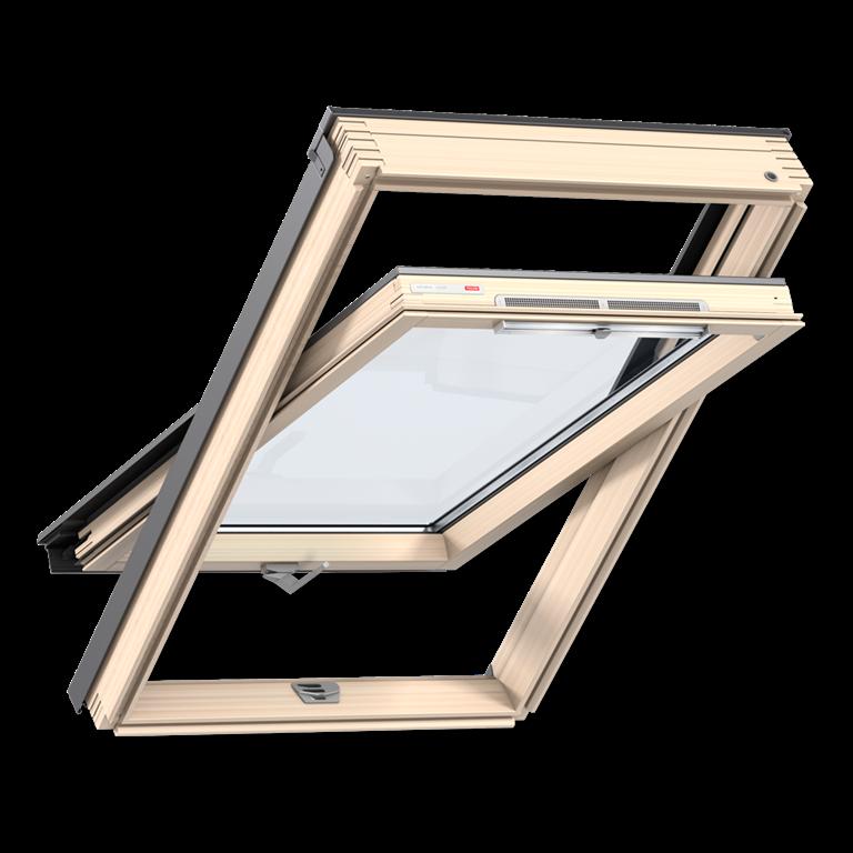 Мансардное окно Velux Оптима 94*118 см, ручка снизу + оклад, фото 1