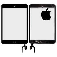 Сенсорный экран (touchscreen) для iPad mini 3 Retina, с кнопкой HOME, черный, оригинал