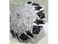 Модный зонт трость с рисунком газеты