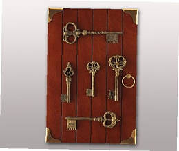 Деревянная ключница  (Дом для ключей)