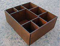 Органайзер для бара, 8 отделений, коричневый