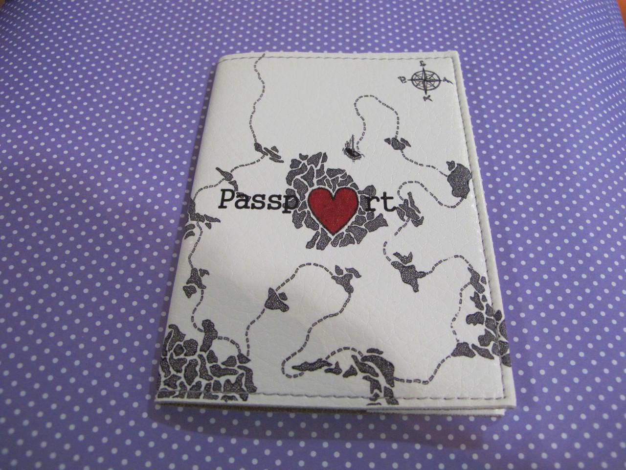 """Обложка на паспорт """"Карта сокровищ"""""""