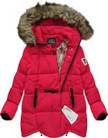Модный Зимний женский пуховик куртка  с капюшоном