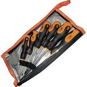 Набор отверток с эргономичной рукояткой, CRV, 6шт. в сумке Миол 63-451