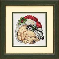 """Набор для вышивания DIMENSIONS  """"Рождественское утро домашних питомцев"""""""