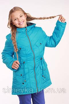 Куртка (парка) для девочки демисезонная Лера на рост 152 см, цвета в ассорт.