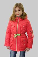 Куртка (парка) для девочки демисезонная Лера на рост 128 см, цвета в ассорт.