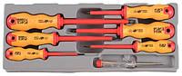 Набор отверток диэлектрических, тестер напряжения (88401) 7 пр. (20718) Force , фото 1