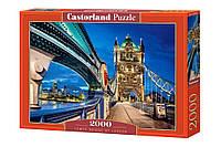 """Пазлы Касторленд  2000 элементов - """"Тауэрский мост в Лондоне"""". Быстрая доставка. Производство Польша."""