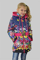 Куртка  для девочки осень-весна Анна на рост 128 см, цвета в ассорт.