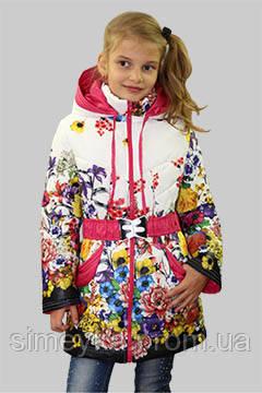 Куртка  для девочки осень-весна Анна на рост 146 см, цвета в ассорт.