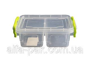Контейнер пластиковый минилюкс двойной 0,5 л