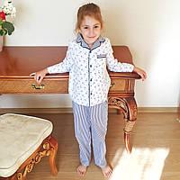 Детская пижама из 100% хлопка для мальчика и девочки